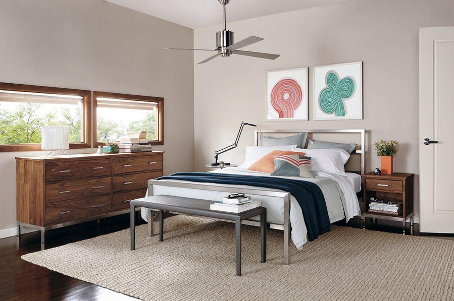 Dormitorio moderno con muebles en aluminio y madera  Dormitorios  Decoracin de Dormitorios y Habitaciones