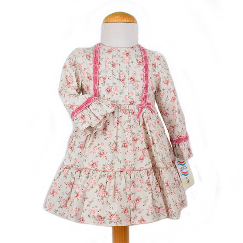 Vestido 7409 Anavig Vestidos de nia manga larga de nueva coleccin oto invierno en Dedos moda infantil