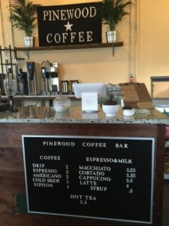 Pinewood Coffee Bar, in Waco