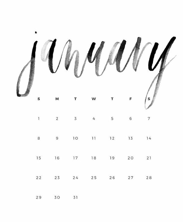 January Is A Diet Of All Things-Time To Begin Again