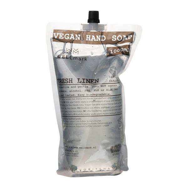 Wellmark - Fresh Linen - Navulverpakking Handzeep - 1000 ml