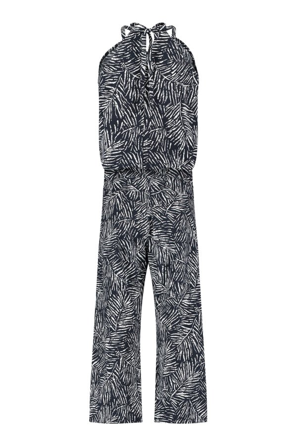 Upama Leaf Jumpsuit 7/8 – Studio Anneloes – Dark Blue Nieuw Jumpsuit
