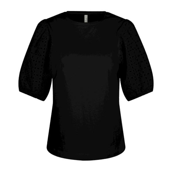 Shirt Broderie Anglaise - Summum - Zwart