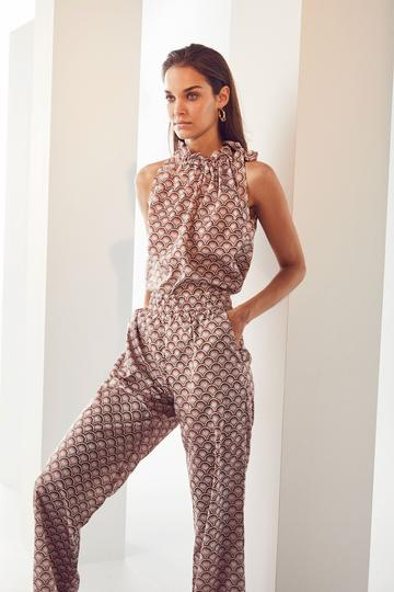 Saki Pants Suntan - Co'Couture - Multicolour