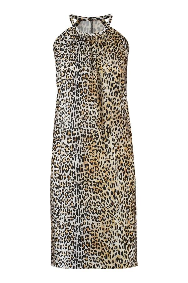 Carla Leopard Dress - Studio Anneloes - Black