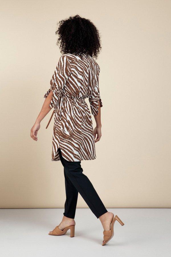 Woopsy Tiger Tunic – Studio Anneloes – Off White Caramel Nieuw Jurk