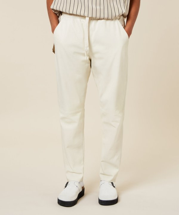 Leather Statement Jogger - 10DAYS - Off white