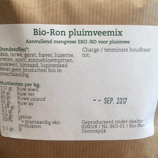 Biologische pluimvee mix, Biologisch kippenvoer, EKO, Bio-ron kippenver, Eko voer, hele granen voer, pluimvee voer