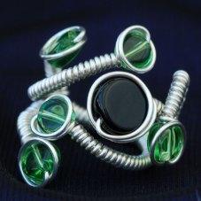 Anel preto e verde