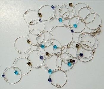 colar argolas de prata e cristais