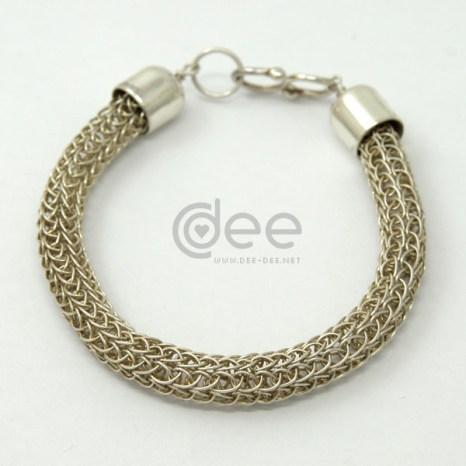 pulseira de malha viking em prata