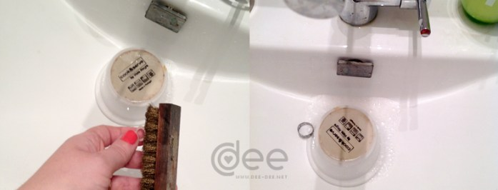cover drain when cleaning jewelry