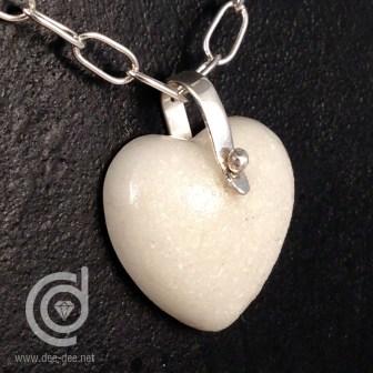 coracao pequeno com argola de prata