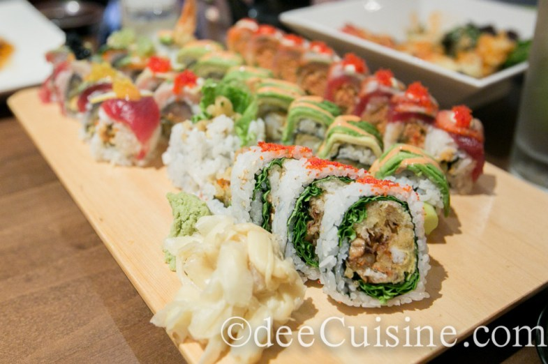 Spider Roll, Gramercy Park Roll, Perfect Fantasy Roll, and Strawberry Fin Roll