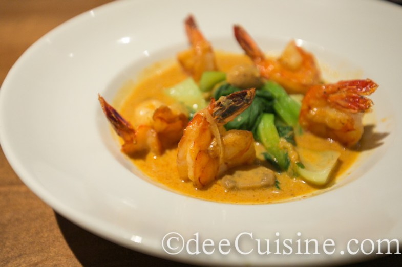 Jumbo Asian Shrimp sautéed with massaman curry