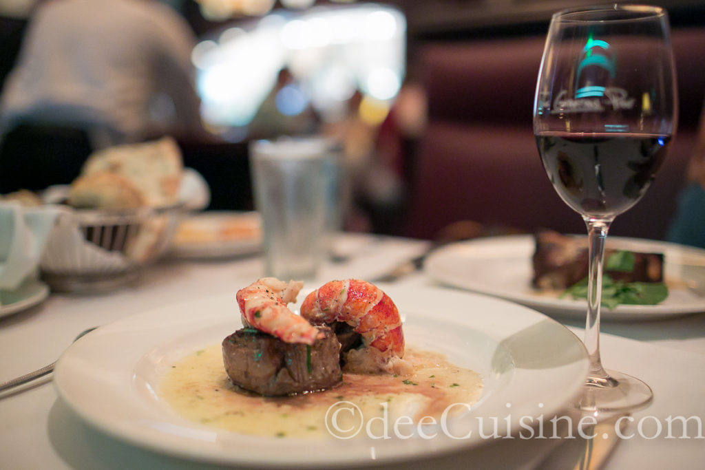Seared Tenderloin with Butter Poached Lobster Tails