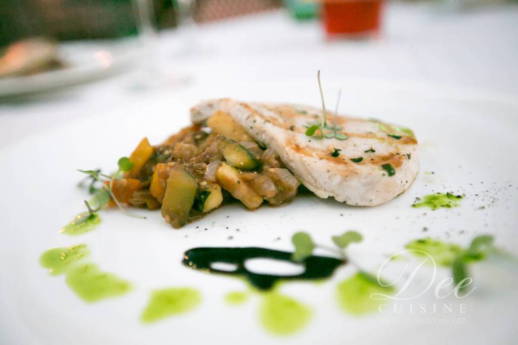 Grilled Swordfish with roasted vegetable caponata
