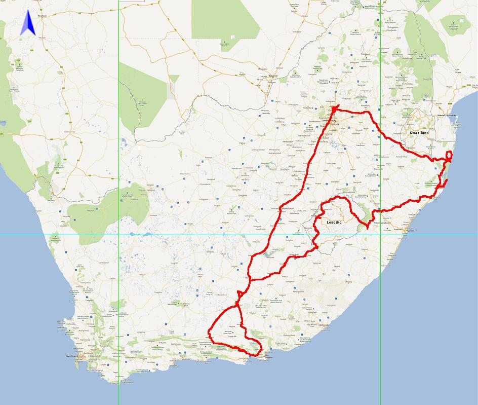 Oostkust, Lesotho en Karoo (2015-05)
