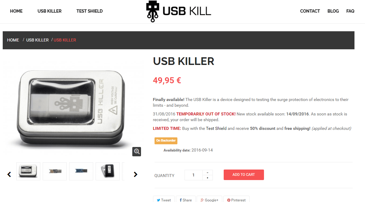 USB KILLER achat amazon