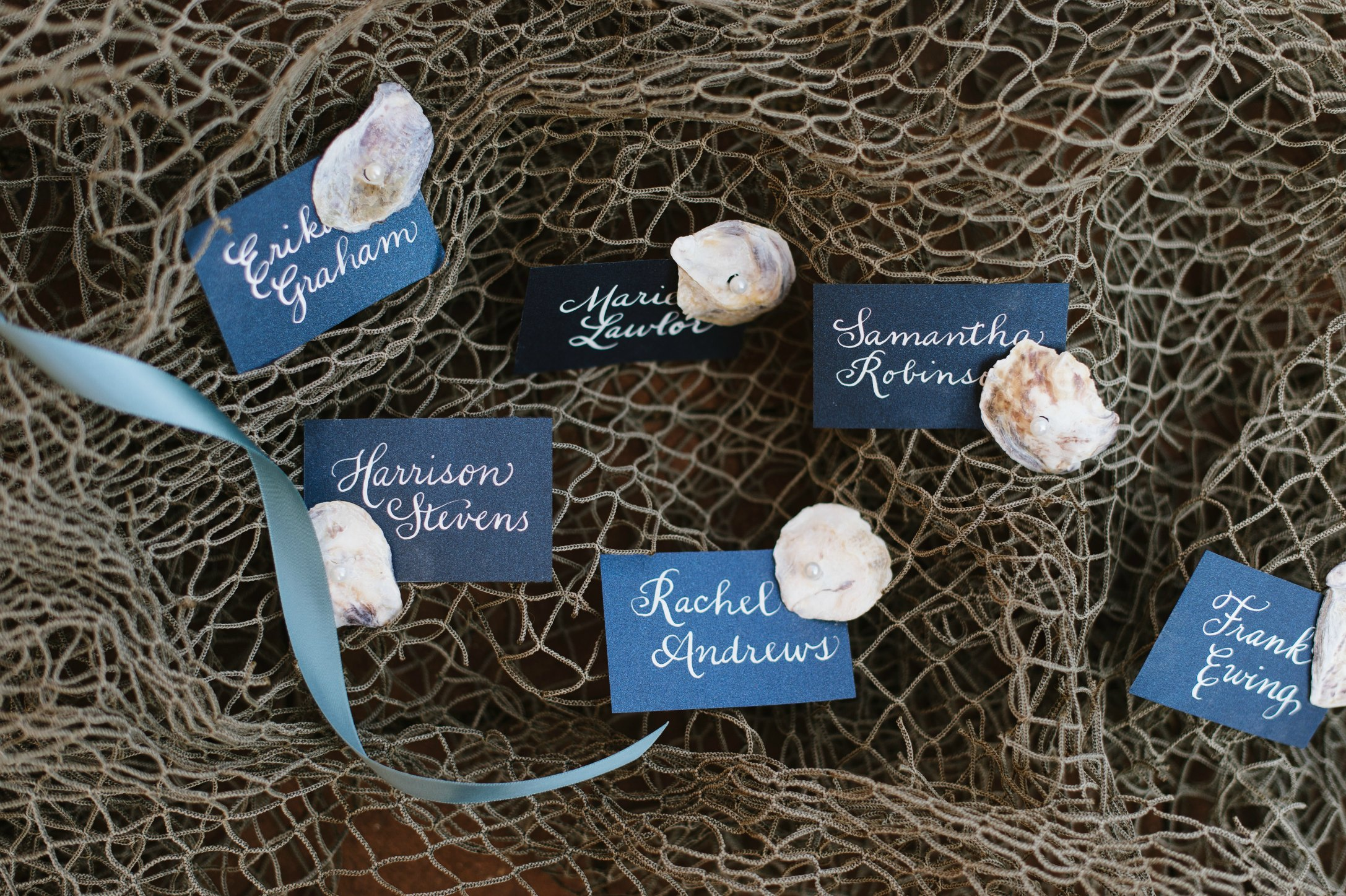 Deluxe Shore Wedding | Dee Kay Events ǀ Downtown Annapolis, MD | Carroll House I Beach Escort Cards