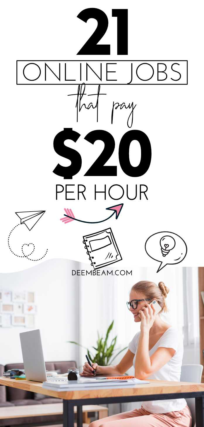 21 online jobs to make $20 an hour