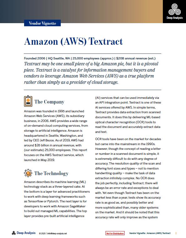 Amazon Textract Review