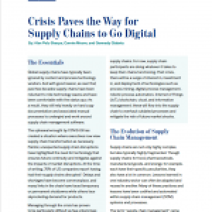 Crisis Paves the Way for Supply Chains to Go Digital