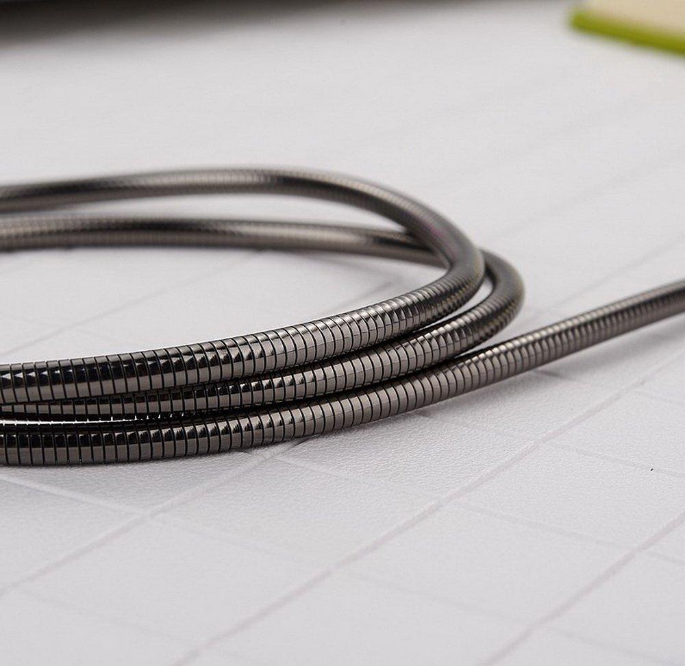 D-Pro Metal Braided Full Speed Cable Kabel USB do USB-C 22cm (Black)   Akcesoria \\ Kable \\ Type-C (USB-C)   Deep-media.pl
