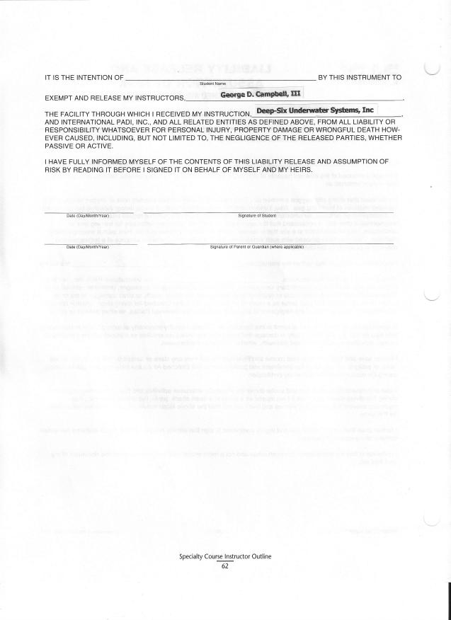 blank liability waiver