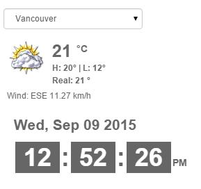 Creating Weather & Time widget web part using Angular