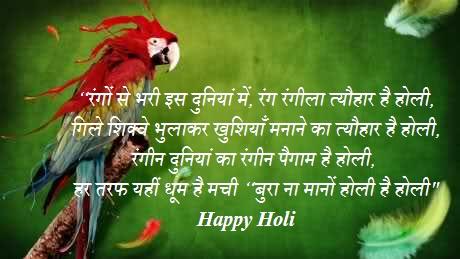 Holi Shayari In Hindi