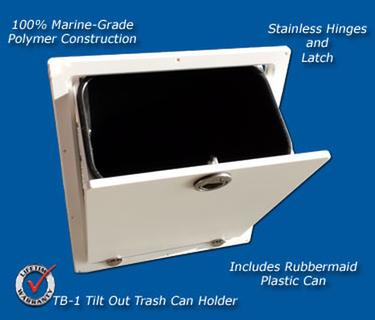 TackleBoat Storage TB1 Trash Can Assembly  Marine