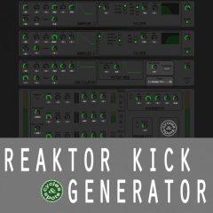 Reaktor Kick Generator <br><br>– 1 Reaktor Ensemble Instrument (Integrated Samples, Oscillator, FX, Randomize Button)