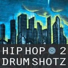 Hip Hop Drum Shotz 2 <br><br>– 300 One-Shot Drum Samples, 24 Bit wavs.