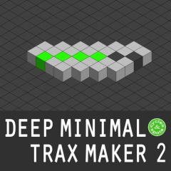Deep Minimal Trax Maker 2 <br><br>– 1 Reaktor Ensemble (Full V6.1 & Higher Needed), 64 Beat Loops, 64 Bass Loops, 64 Percussion Loops, 100 Theme Loops, 64 Hihat Loops, 20 Presets, Mixer, Reverb, Delay, 785 MB.