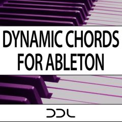 Dynamic Chords For Ableton <br><br>&#8211; (Live Suite 9+10) 52 Dynamic Chord modules, 3 Chord Progression Modules, 52 Chord Modules, 189 MB.