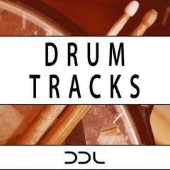 Drum Tracks <br><br>– 40 Full Beat Loops, 175 Drum Element Loops (Kick, Snare, Hihat, Ride, Crash, Toms), All Up To 24 Bars Long, 1.33 GB, 16 Bit Wavs.
