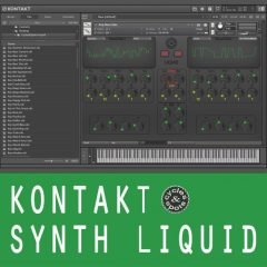 Kontakt Liquid Synth <br><br>&#8211; Wavetable Synth For NI Kontakt 6, 125 Preset Sounds.