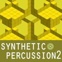 Synthetic Percussion 2 <br><br>– 300 Unusal Percussion Loops, 341 MB, 24 Bit Wavs.