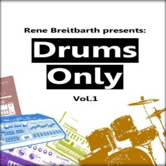Rene Breitbarth &#8211; Drums Only Vol.1 <br><br>&#8211; 735 Drum Loops, Kick Loops, Snare Loops, Hihat Loops, Percussion Loops, Source: Machines &#038; Drum Set, 115 BPM to 130 BPM, 980 MB, 24 Bit Wavs.