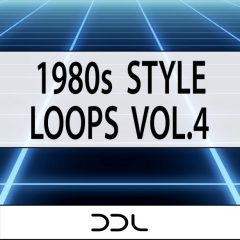 1980s Style Loops Vol.4 <br><br>&#8211; 20 Construction Kits (Wav Loops Of Bassline, Chords, Melody, Beat Elements), 63 MIDI Files, 350 MB, 24 Bit Wavs.