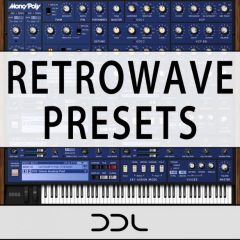 Retrowave Presets <br><br>&#8211;  74 Presets For KORG Mono/Poly +Bonus Demo Files.