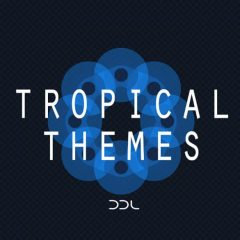 Tropical Themes <br><br>&#8211; 10 Construction Kits (132 Wav Loops &#038; MIDI Files), 248 MB, 24 Bit Wavs.