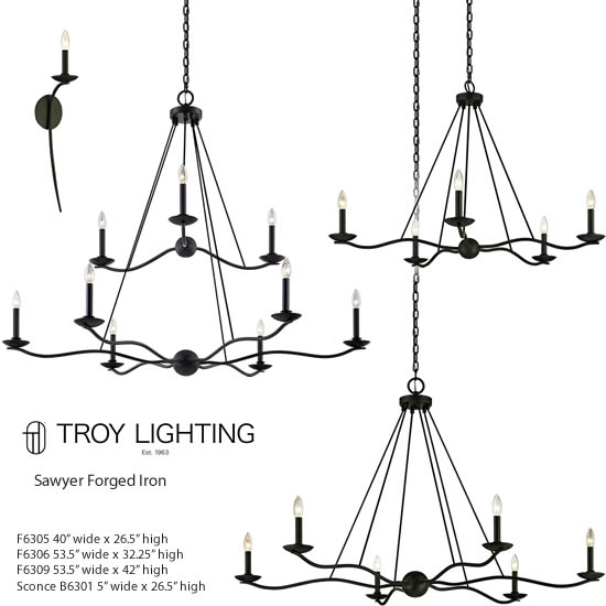troy lighting sawyer forged iron