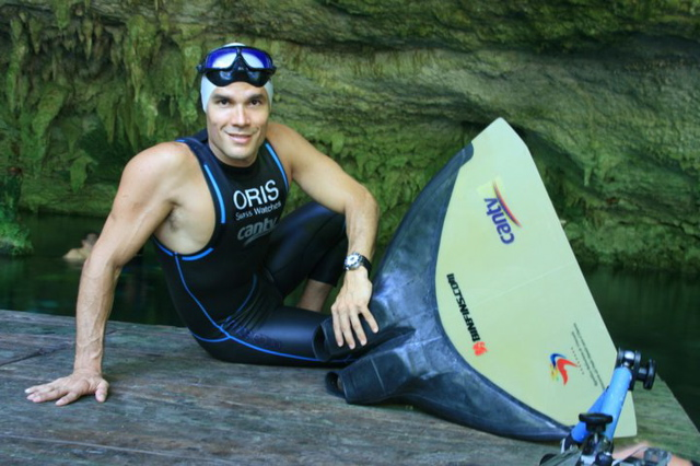 In Tulum Carlos Coste Guinness Record Apnea in a Cave