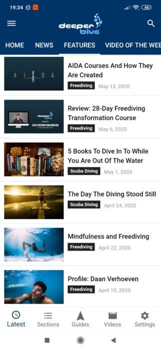 Screenshot of DeeperBlue app.