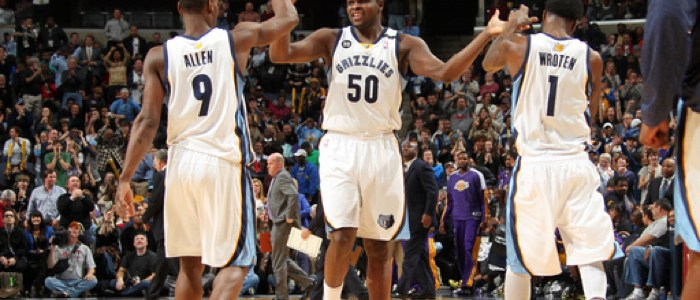 2013 Grizzlies: Tony Allen, Tony Wroten, and Zach Randolph