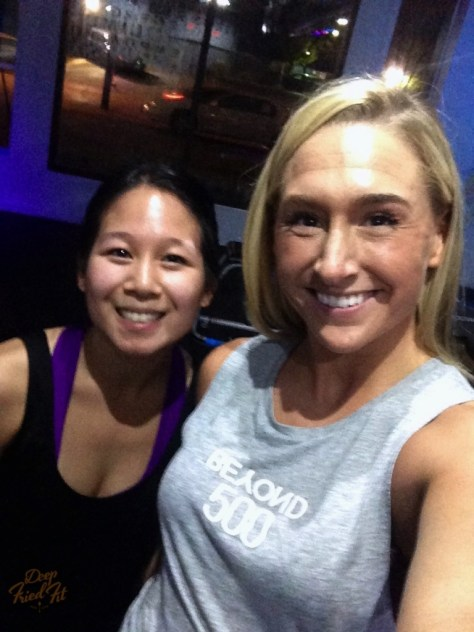 With Instructor Catherine! She is a pretty awesome teacher and motivator.