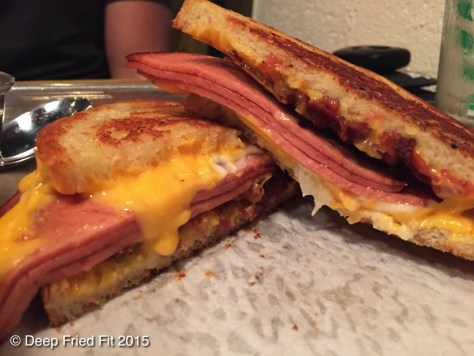 Fried Bologna Grilled Cheese