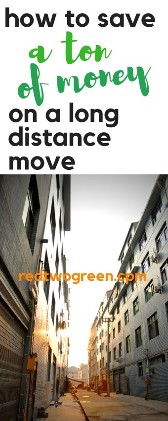 save money on a long distance move